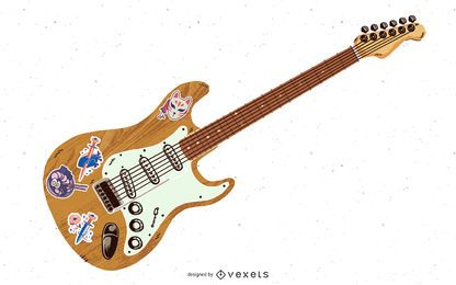 Guitarra eléctrica Yamaha detallada Pacifica
