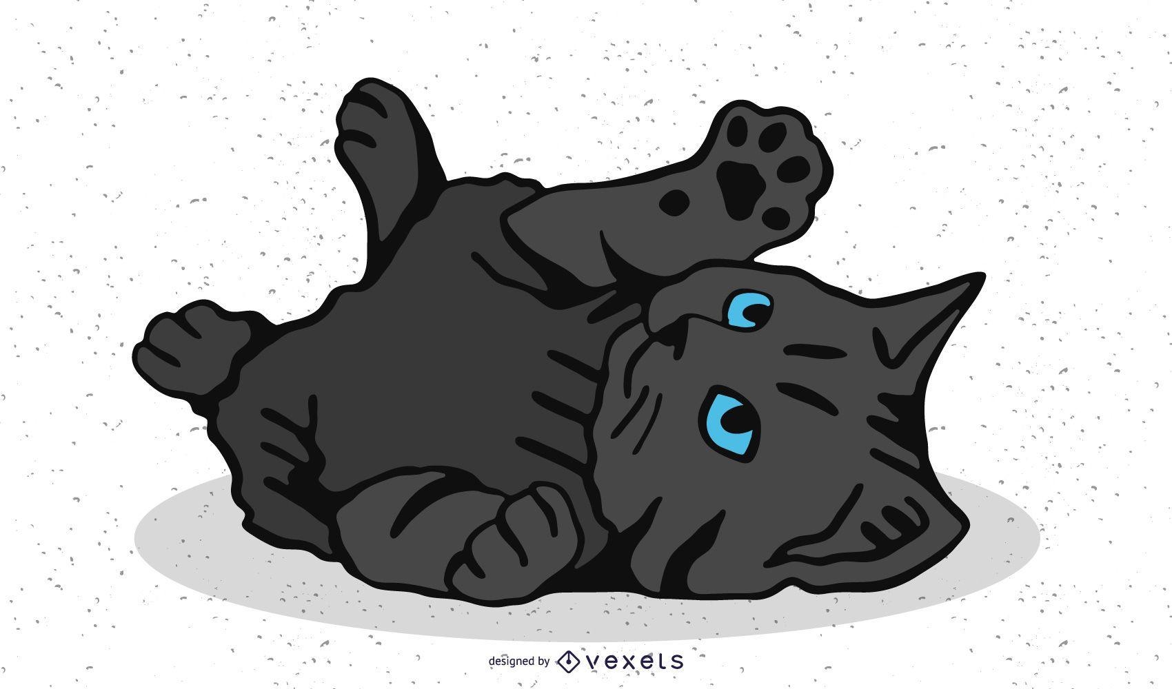 Little cat vector