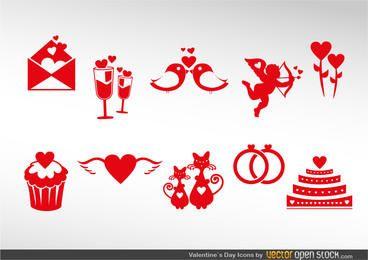 Conjunto de ícones dos namorados