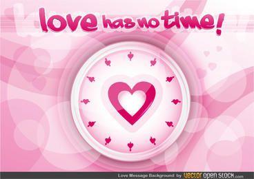 Fondo de mensaje de amor