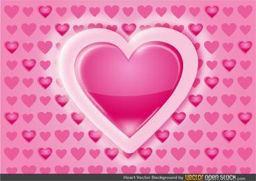 Herz-Muster-Hintergrund