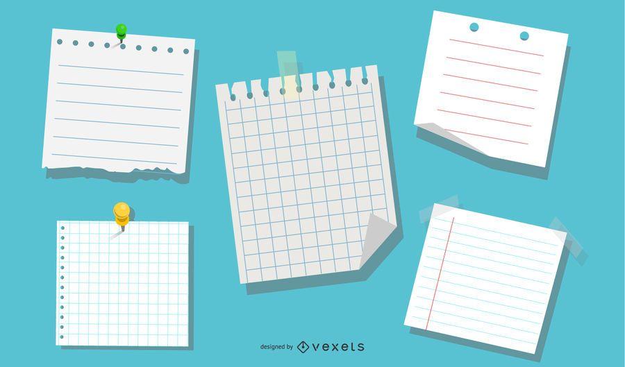 Vector de papel de cuaderno