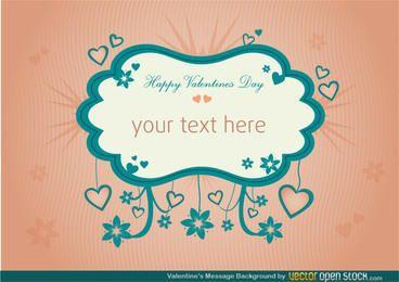 Valentines Nachricht Hintergrund