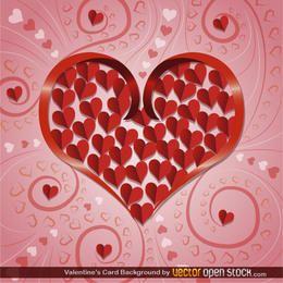 Fondo de tarjeta de San Valentín