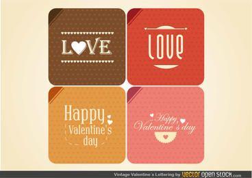 Vintage Valentine's Lettering
