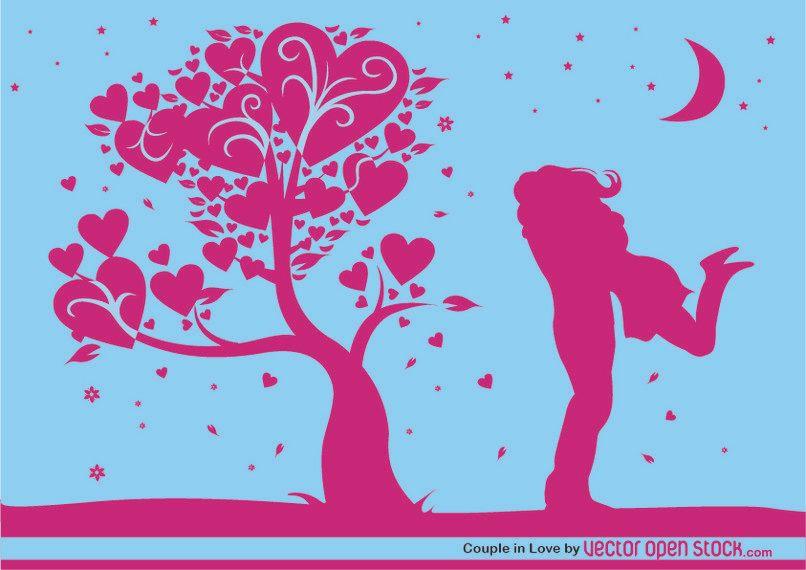Valentinstag Nacht Umarmung