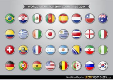 Banderas de la Copa del Mundo Brasil 2014