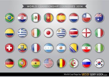 Brasilien-WM-Flaggen