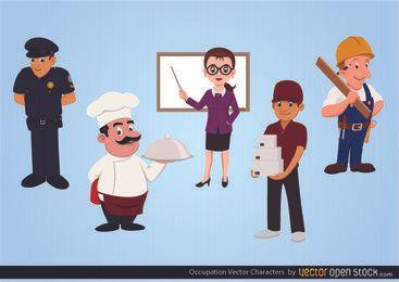 Personagens de vetor de ocupação