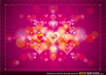 Fondo del corazón de San Valentín