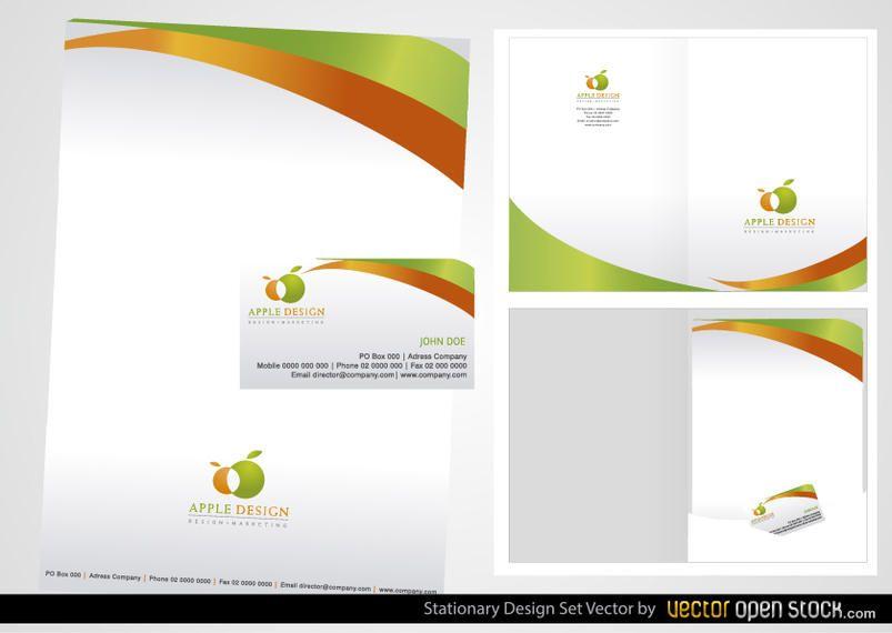 Conjunto de design de papelaria