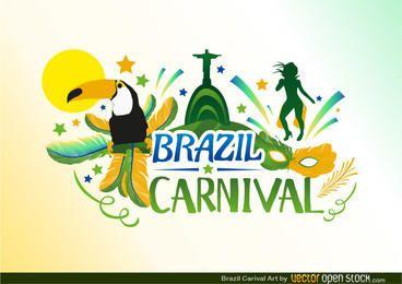 Diseño de Carnaval de Brasil