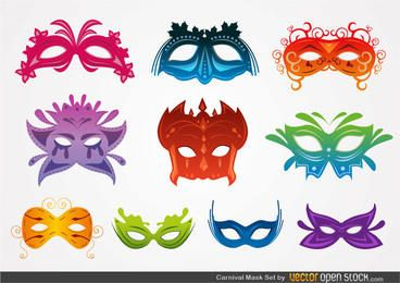 Set Máscara de Carnaval