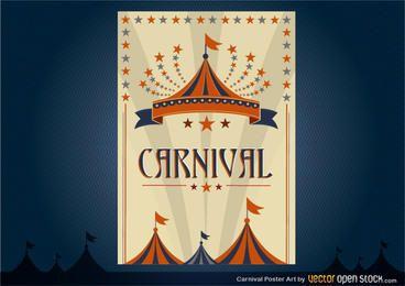 Design de cartaz de carnaval