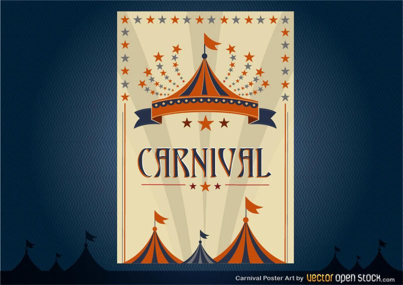carnival poster design vector download