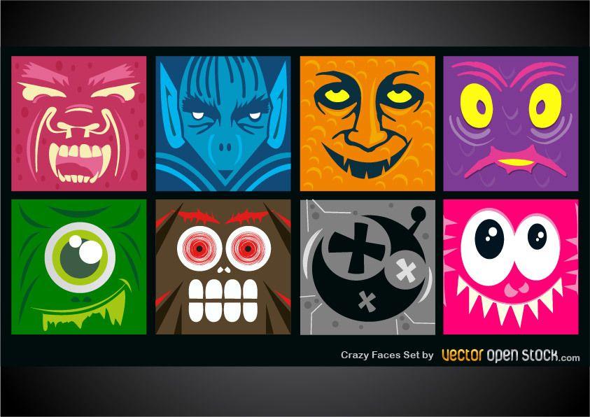 Crazy Faces Set