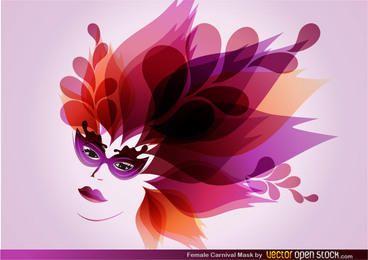 Máscara de carnaval femenina