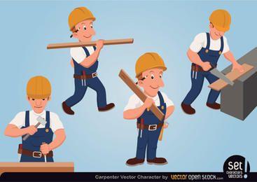 Conjunto de caracteres de carpinteiro