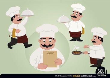 Cozinheiro chefe conjunto de caracteres