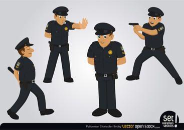 Conjunto de caracteres de policía