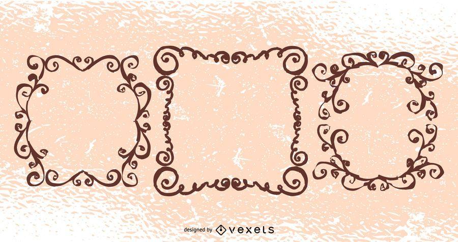 Creativo Grungy Floral Swirls Pack
