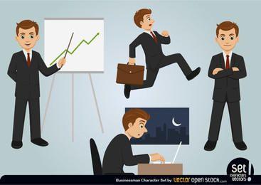 Businessman Character Set