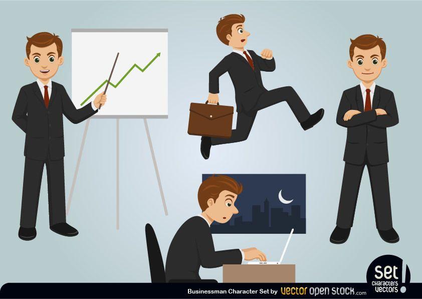 Conjunto de caracteres de empresario