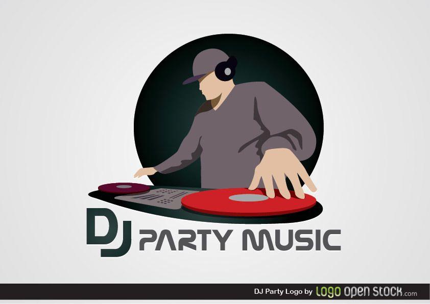 dj party logo vector download