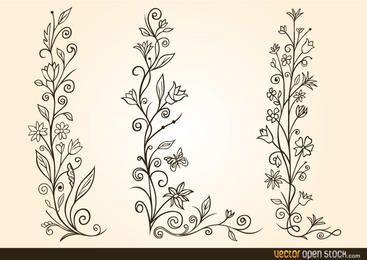 Dekorativer Blumenentwurf