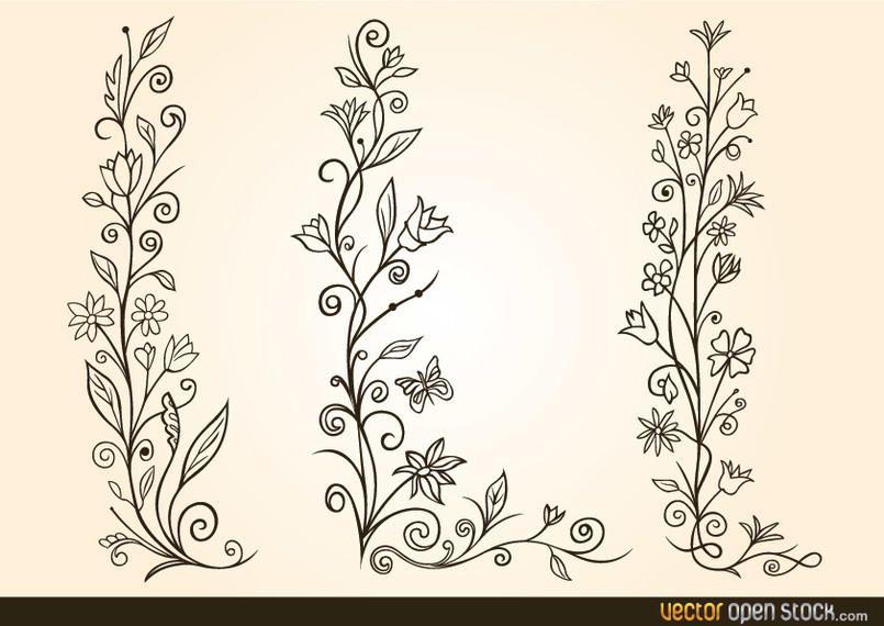 Diseño de flores ornamentales