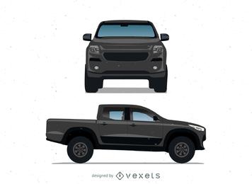Camioneta pickup negra realista de Ford