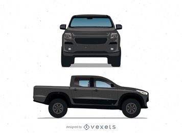 Camionete preta realística de Ford