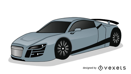 Nissan GTR ilustración coche de lujo