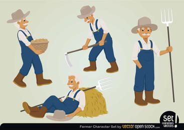 Conjunto de caracteres de granjero