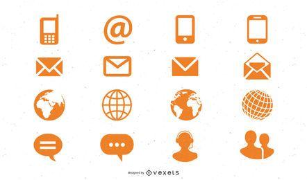 Pacote de ícones da Internet Funky
