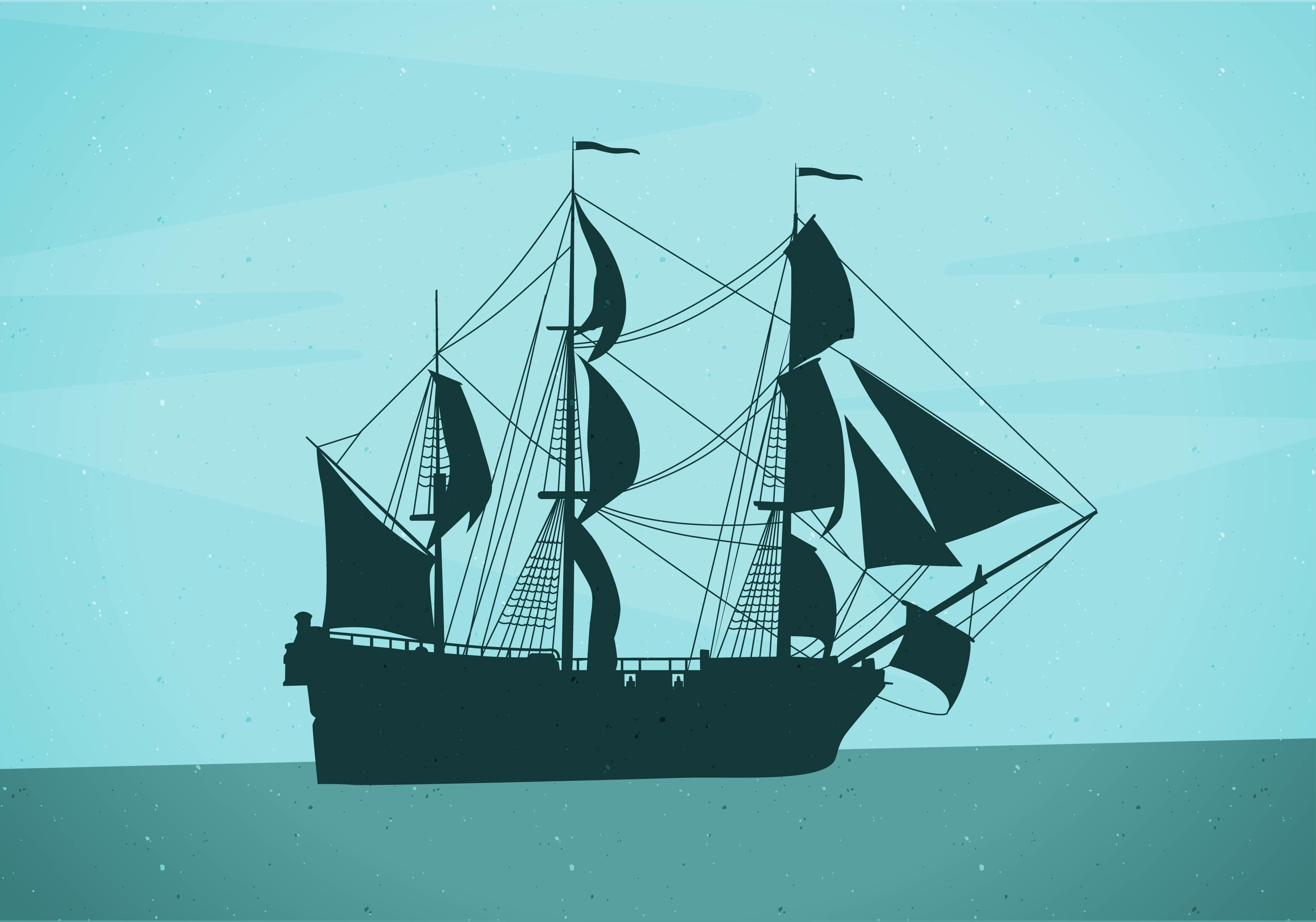 Barco pirata silueta