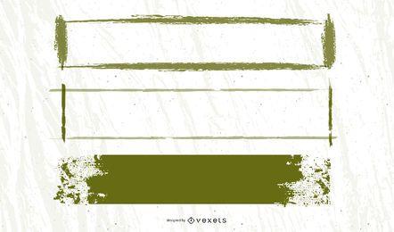 Grungy Banner Frame Pack de publicidad