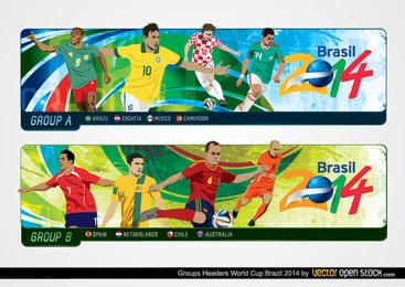 Cabeçalhos de grupos da Copa do Mundo Brasil 2014