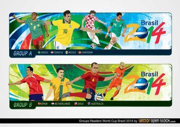Cabeceras del Grupo de la Copa del Mundo Brasil 2014