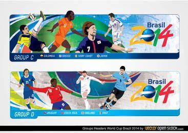 Cabeçalhos da Copa do Mundo Brasil 2014