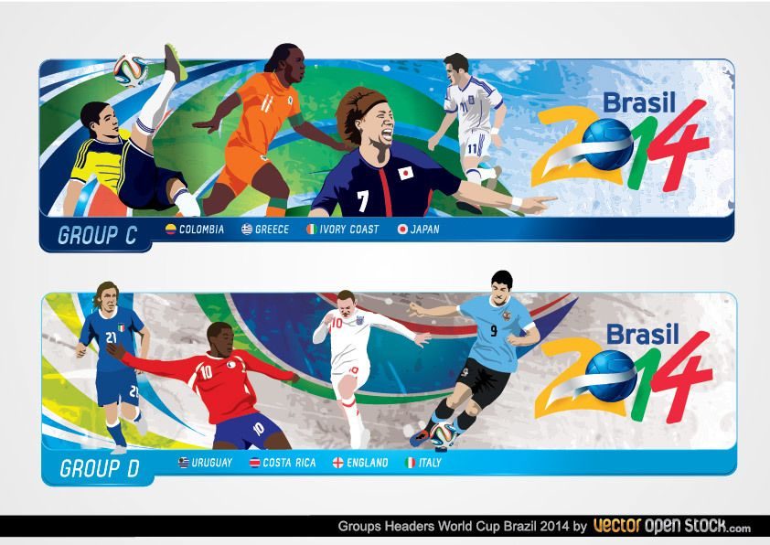 Brazil 2014 World Cup Headers