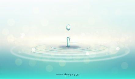 Ondulações de água azul realista