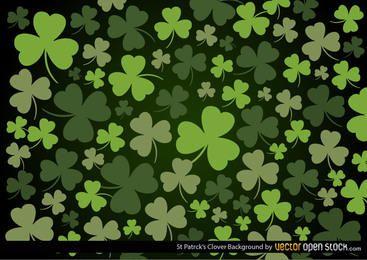 St. Patrick's Clover Hintergrund