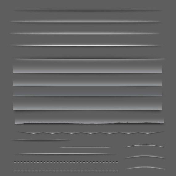 Divisor o barra de elementos web del paquete