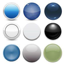 Paquete de botones web brillante