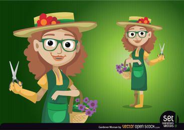 Jardineiro mulher personagem