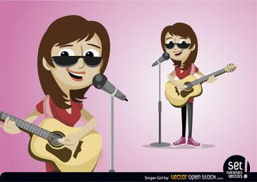 Personagem de garota cantor