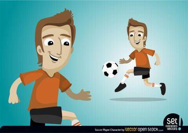 Fußball Spieler Charakter