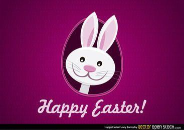 Feliz Conejito divertido Pascua