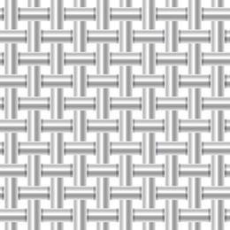 Fundo de padrão de tubo metálico prateado